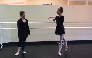 San Antonio Ballet Lessons Turn on Pointe in Arabesque
